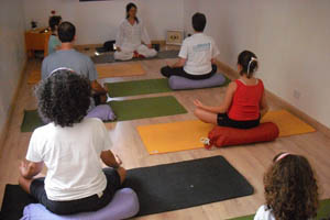 Evento junta yoga e|massagem no Bija Yoga